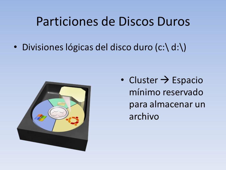 Particiones de Discos Duros