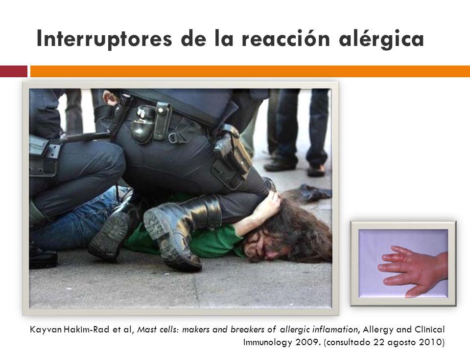 Interruptores de la reacción alérgica