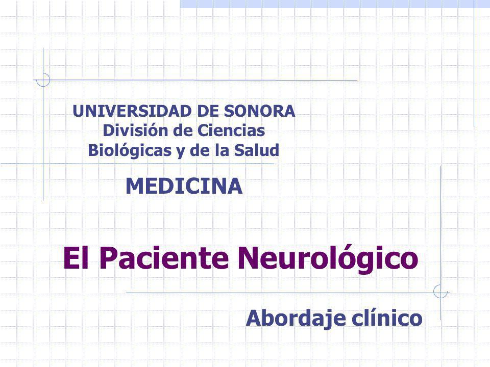 El Paciente Neurológico