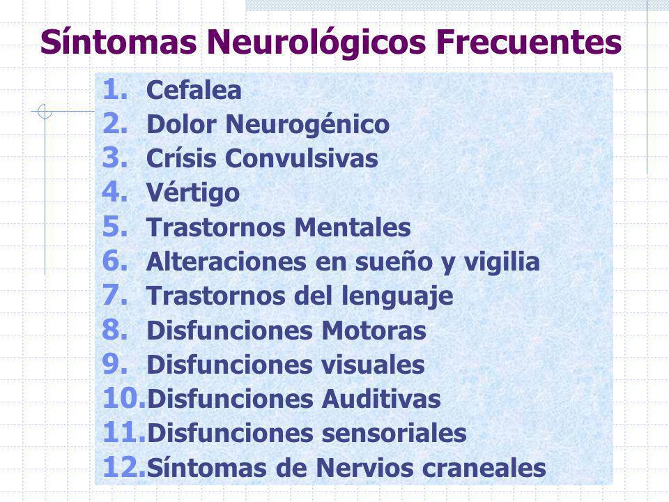 Síntomas Neurológicos Frecuentes