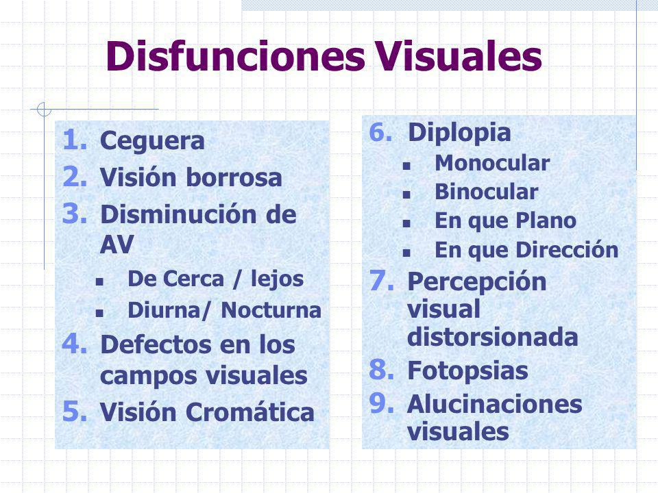 Disfunciones Visuales