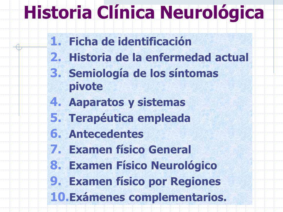 Historia Clínica Neurológica
