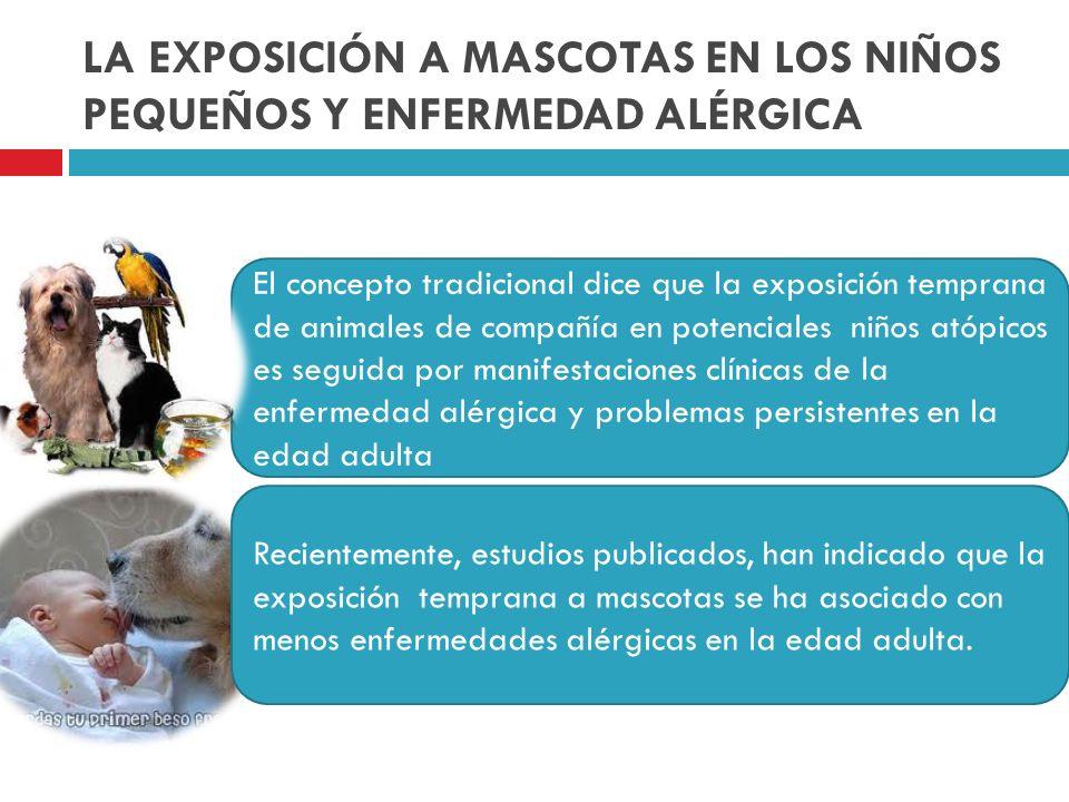 LA EXPOSICIÓN A MASCOTAS EN LOS NIÑOS PEQUEÑOS Y ENFERMEDAD ALÉRGICA