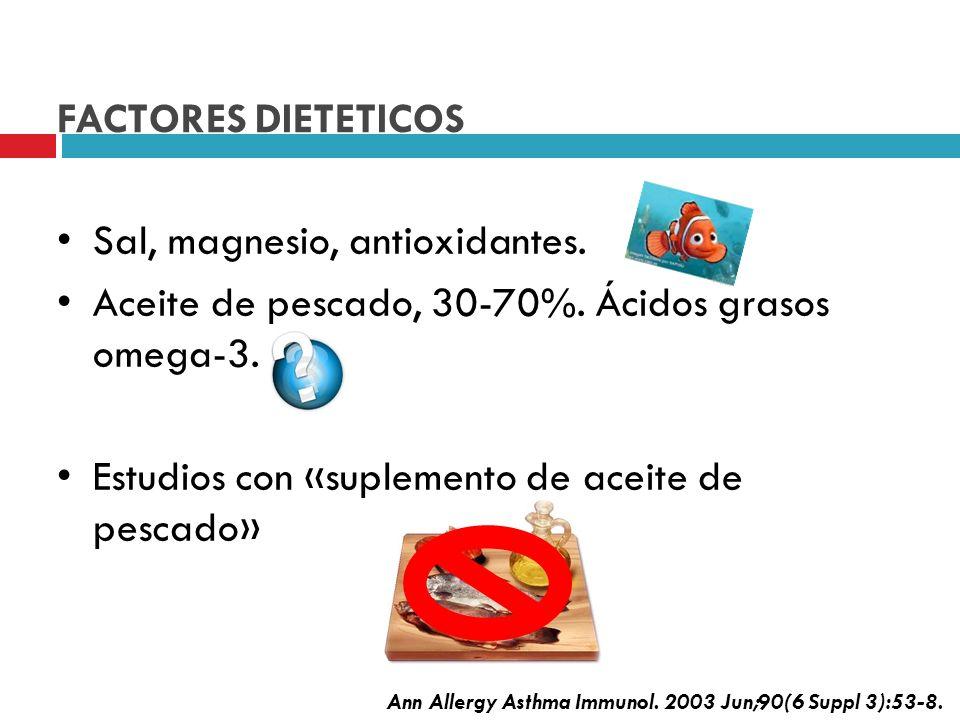 Sal, magnesio, antioxidantes.
