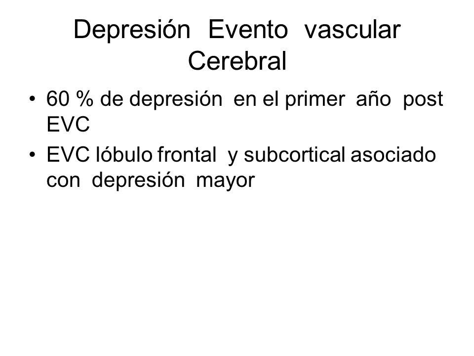 Depresión Evento vascular Cerebral