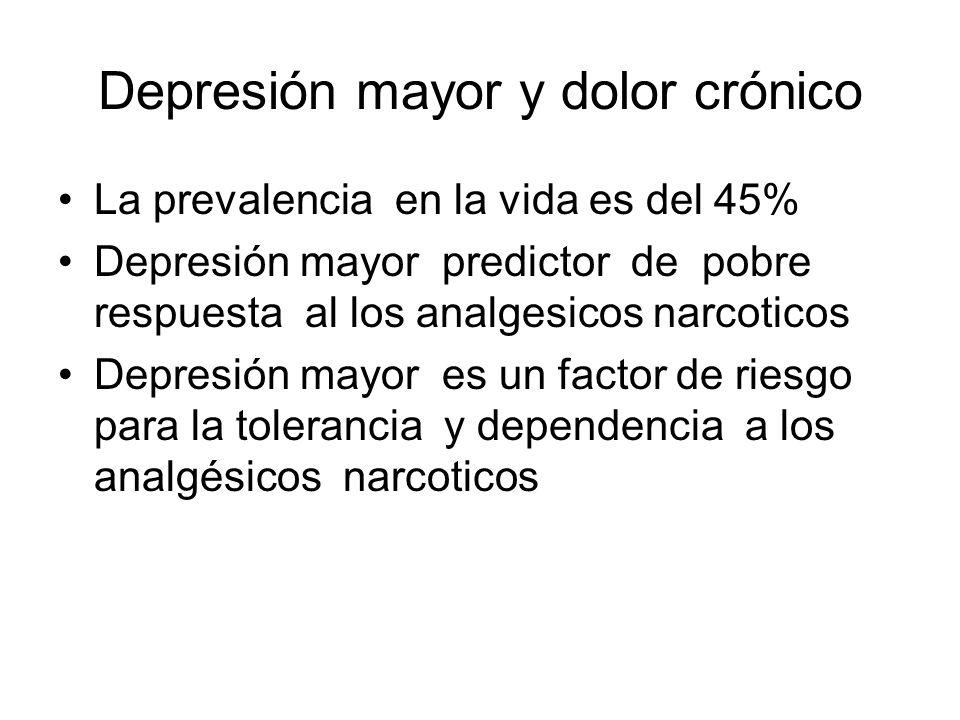 Depresión mayor y dolor crónico