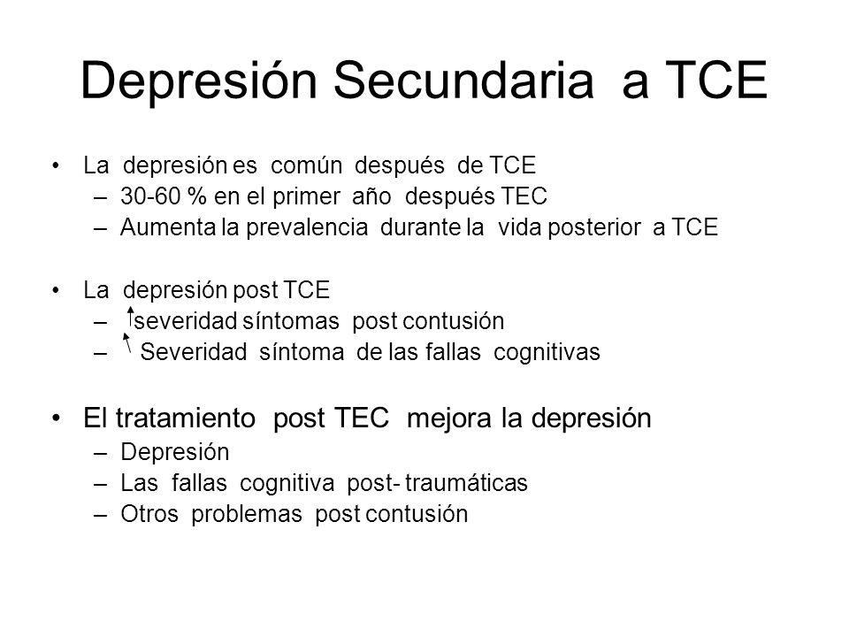 Depresión Secundaria a TCE