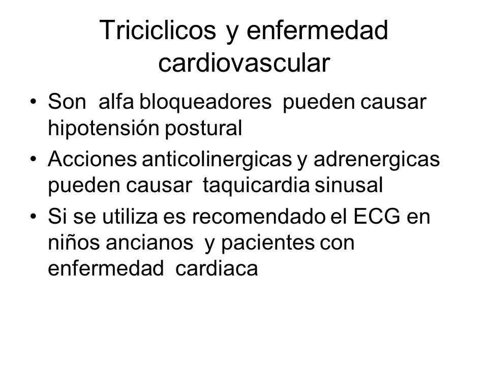Triciclicos y enfermedad cardiovascular