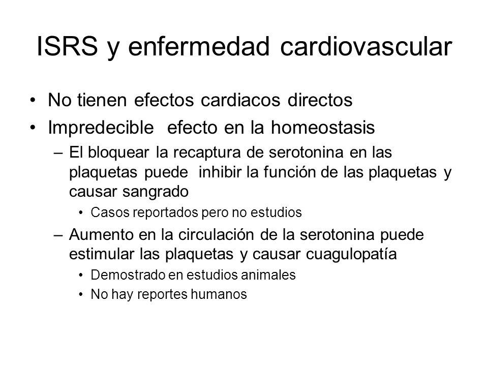 ISRS y enfermedad cardiovascular