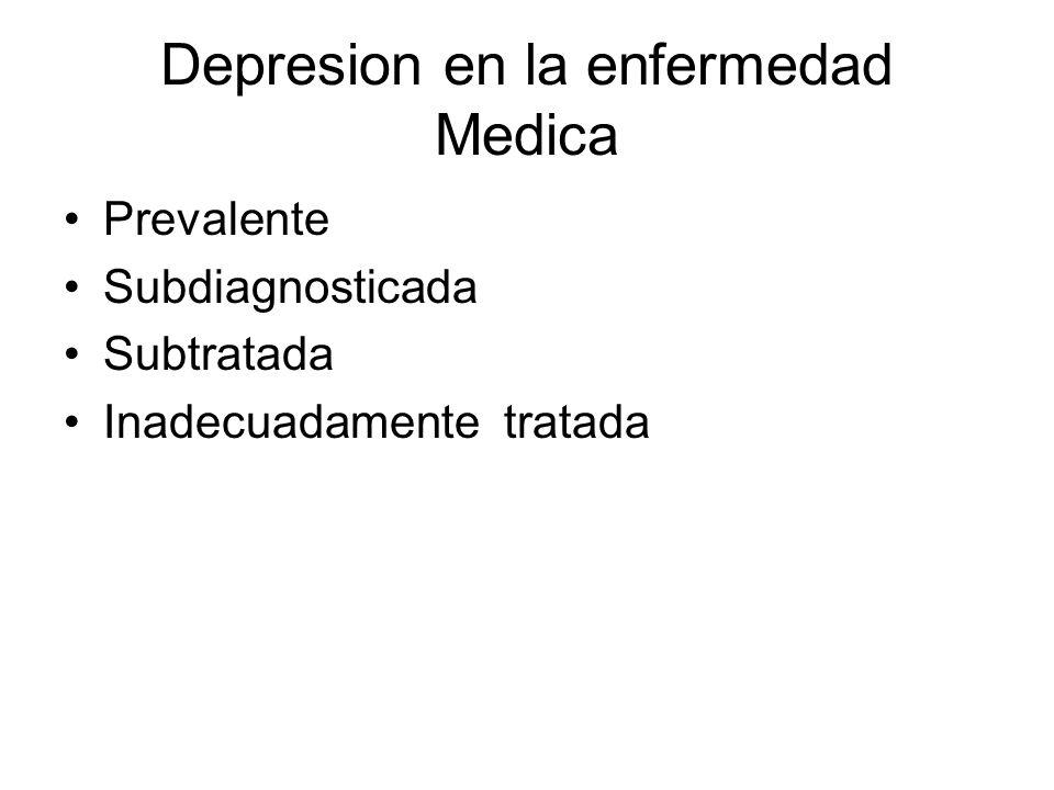 Depresion en la enfermedad Medica