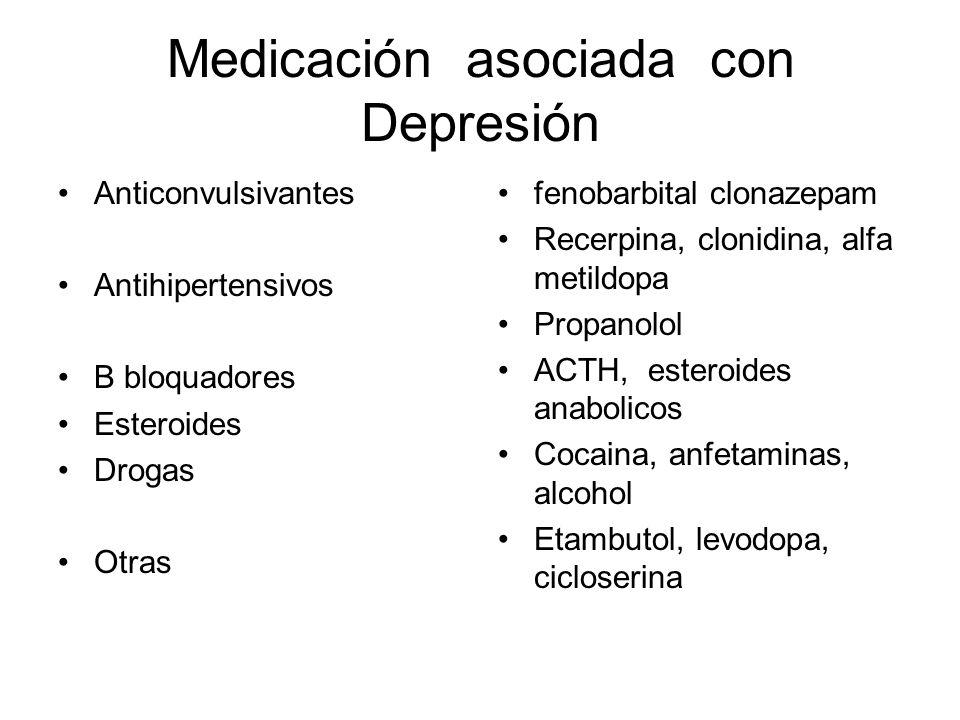 Medicación asociada con Depresión