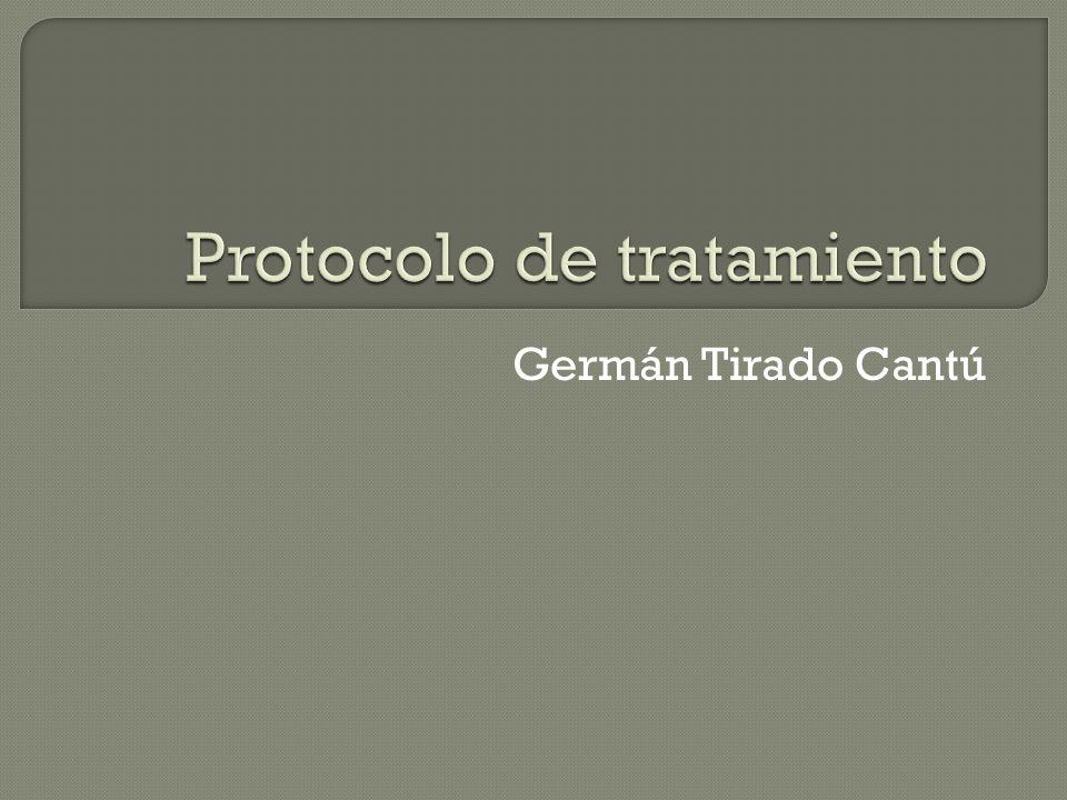 Protocolo de tratamiento