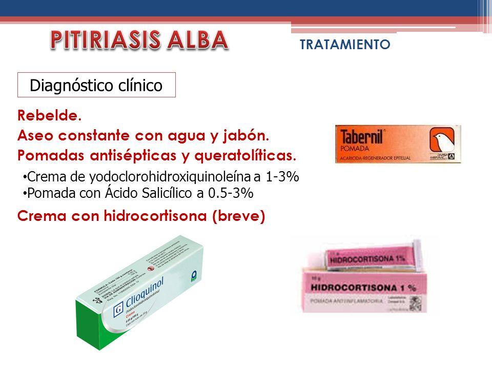 PITIRIASIS ALBA Diagnóstico clínico Rebelde.