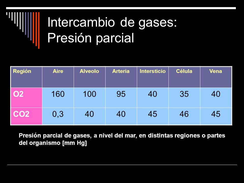 Intercambio de gases: Presión parcial