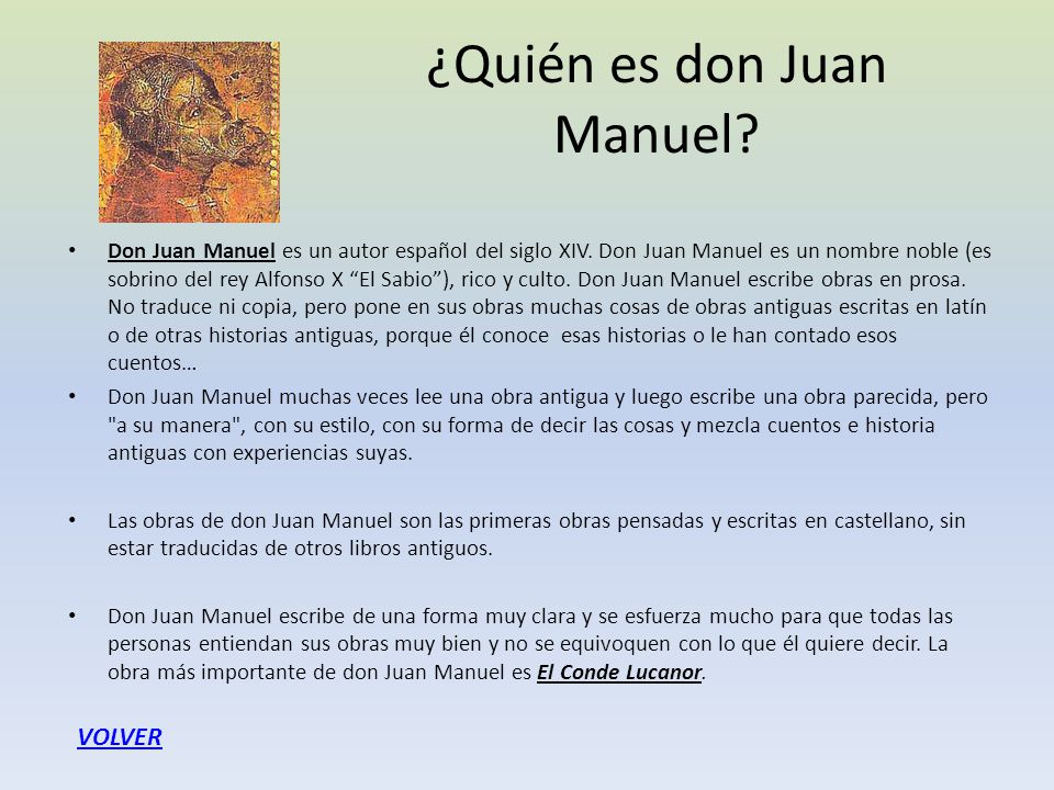 ¿Quién es don Juan Manuel