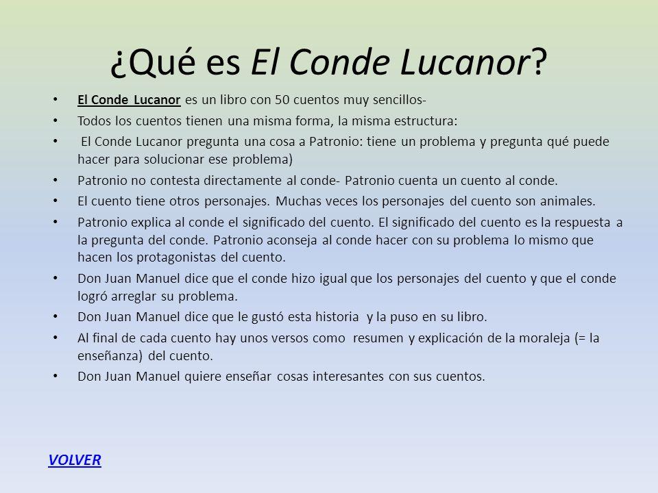 ¿Qué es El Conde Lucanor
