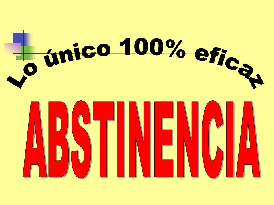 Lo único 100% eficaz ABSTINENCIA