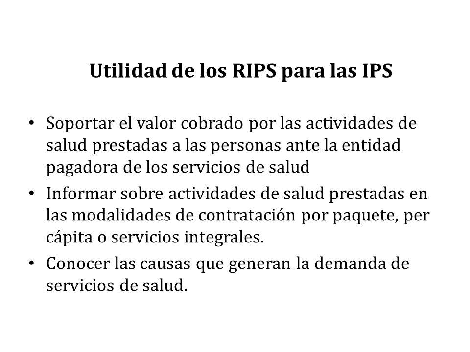 Utilidad de los RIPS para las IPS