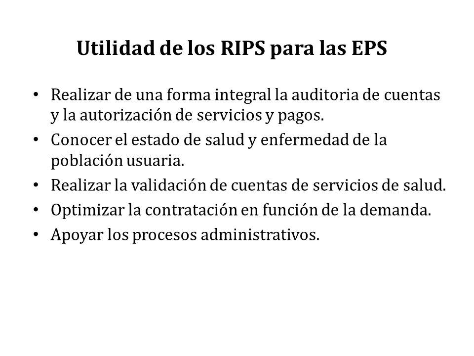 Utilidad de los RIPS para las EPS