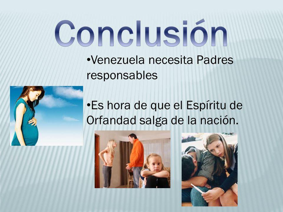 Conclusión Venezuela necesita Padres responsables