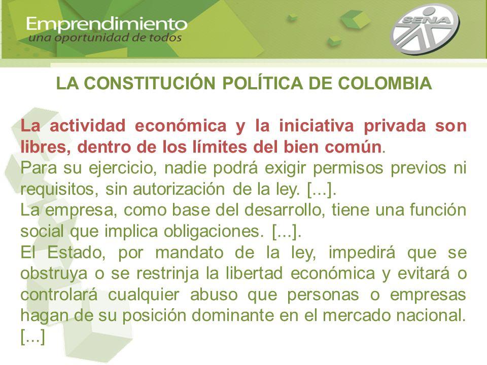 LA CONSTITUCIÓN POLÍTICA DE COLOMBIA