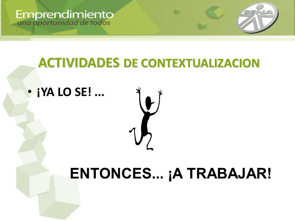 ACTIVIDADES DE CONTEXTUALIZACION