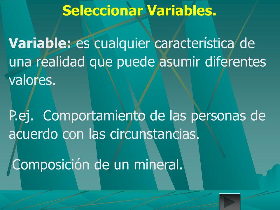 Seleccionar Variables.