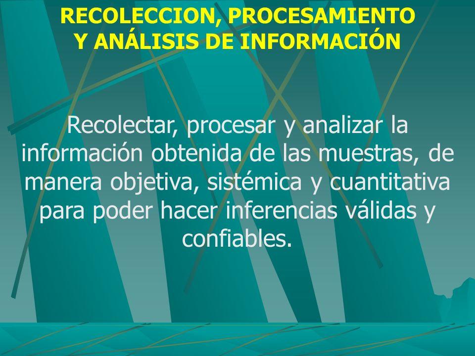 RECOLECCION, PROCESAMIENTO Y ANÁLISIS DE INFORMACIÓN