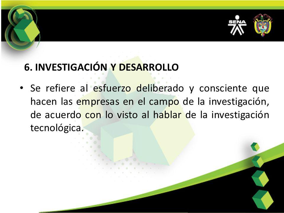 6. INVESTIGACIÓN Y DESARROLLO