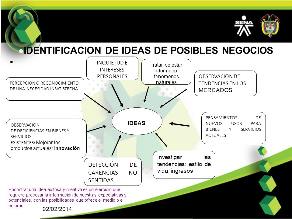 IDENTIFICACION DE IDEAS DE POSIBLES NEGOCIOS