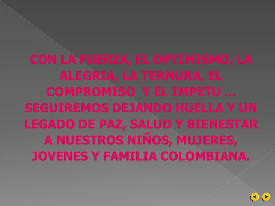 CON LA FUERZA, EL OPTIMISMO, LA ALEGRIA, LA TERNURA, EL COMPROMISO Y EL IMPETU ...