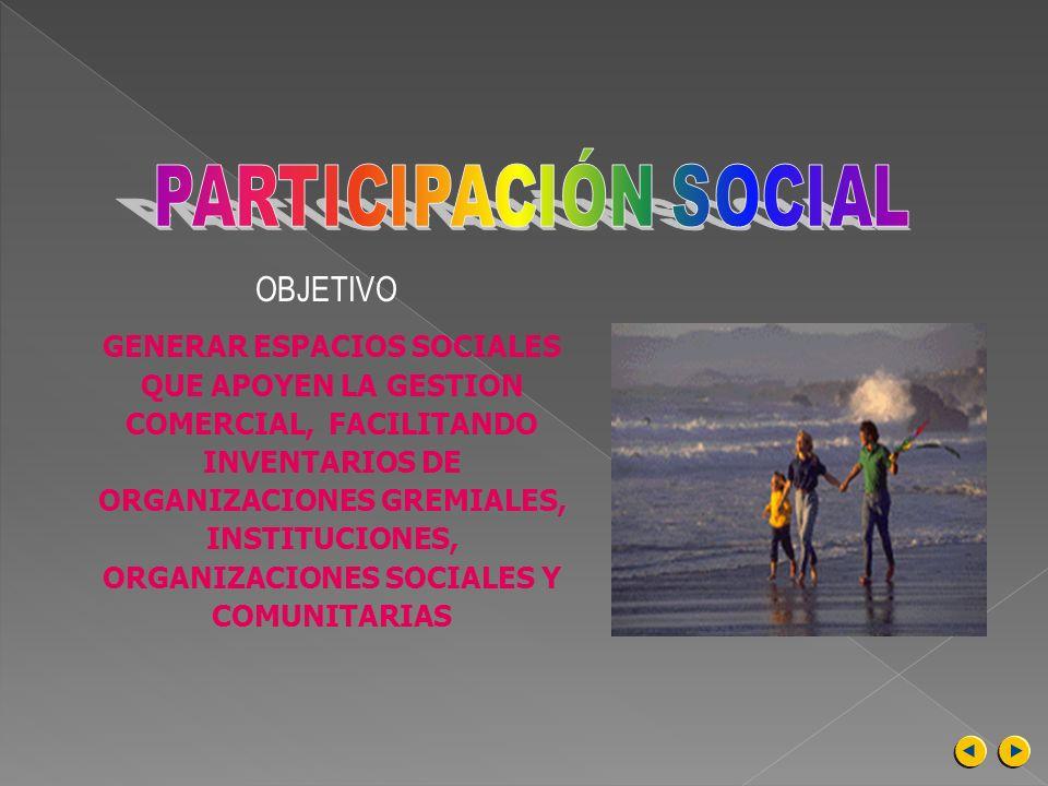 PARTICIPACIÓN SOCIALOBJETIVO.