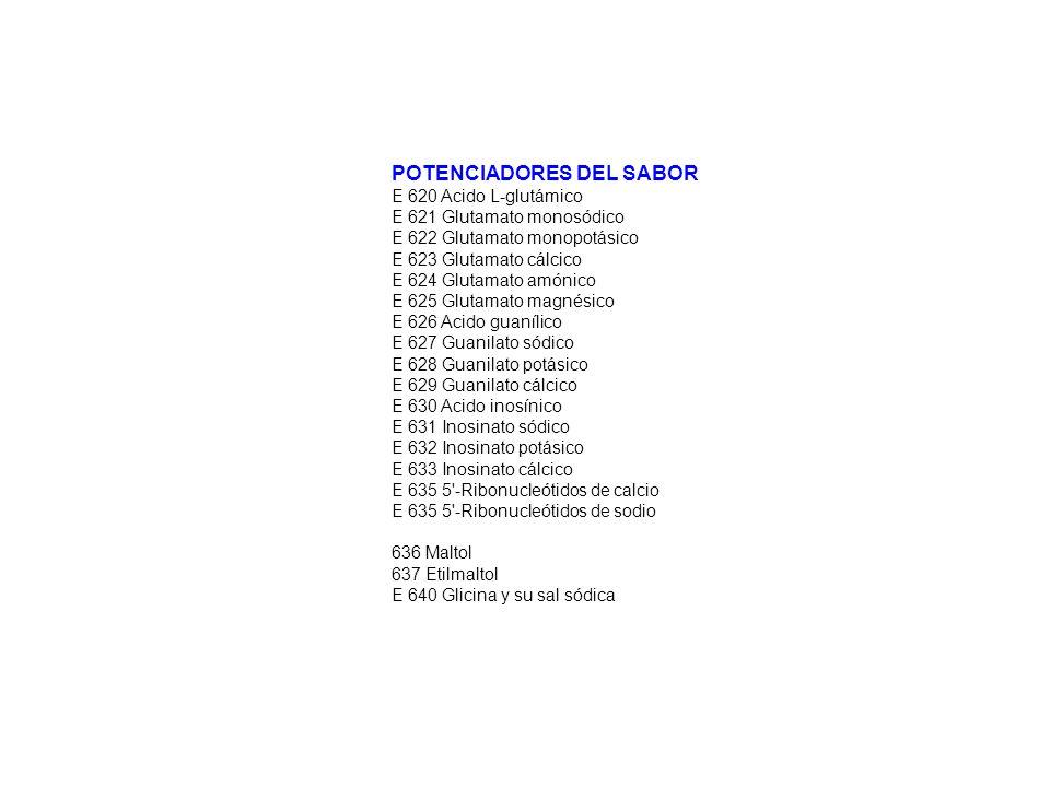 POTENCIADORES DEL SABOR