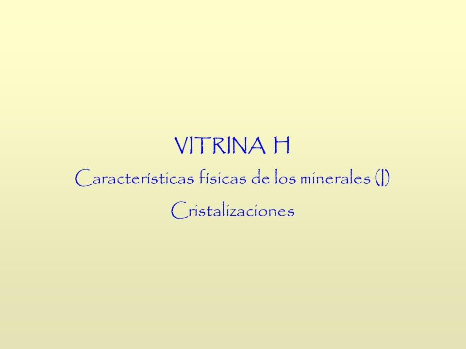 Características físicas de los minerales (I)