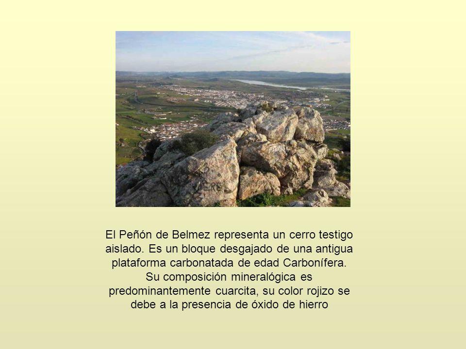 El Peñón de Belmez representa un cerro testigo aislado
