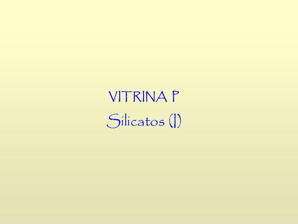 VITRINA P Silicatos (I)