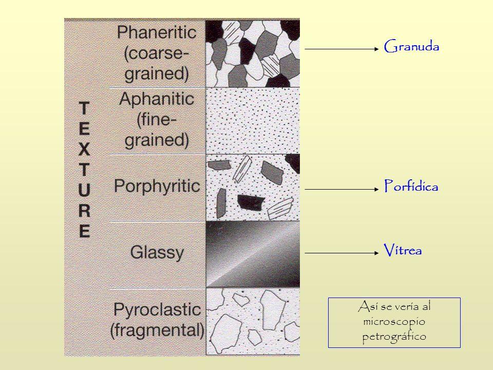 Así se vería al microscopio petrográfico