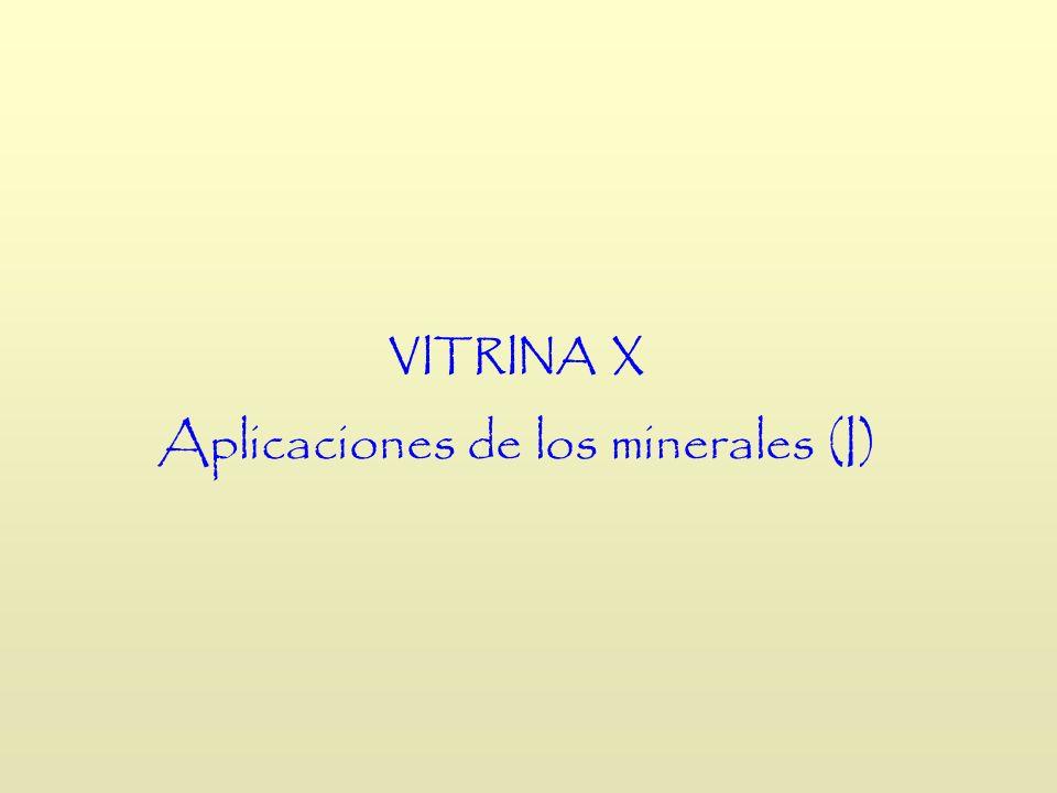 Aplicaciones de los minerales (I)