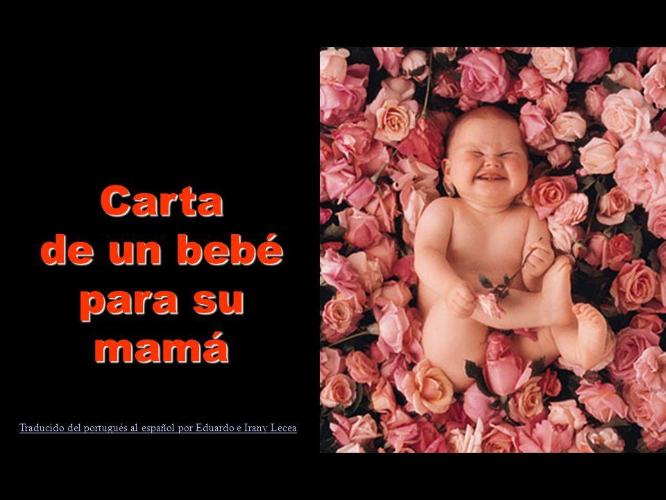 Carta de un bebé para su mamá