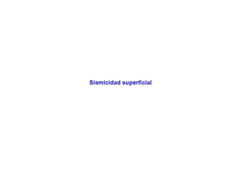 Sismicidad superficial