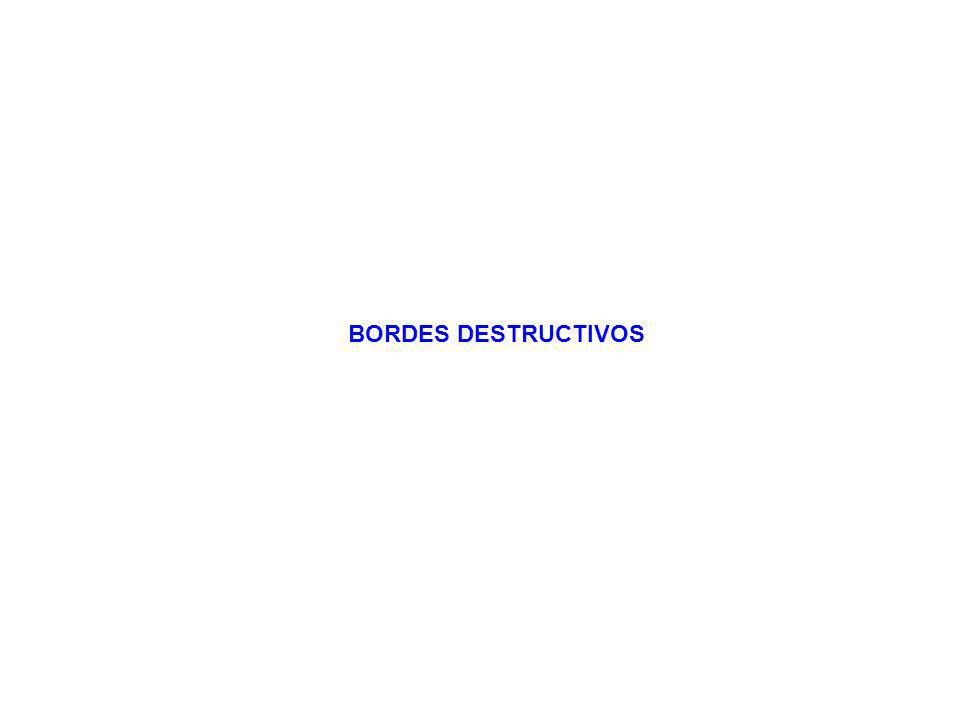 BORDES DESTRUCTIVOS