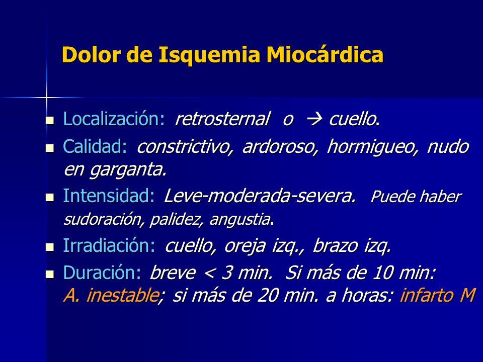 Dolor de Isquemia Miocárdica