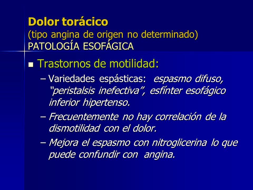 Trastornos de motilidad: