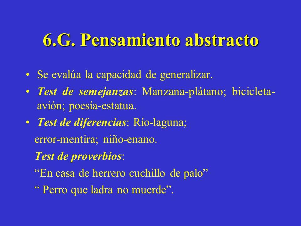 6.G. Pensamiento abstracto