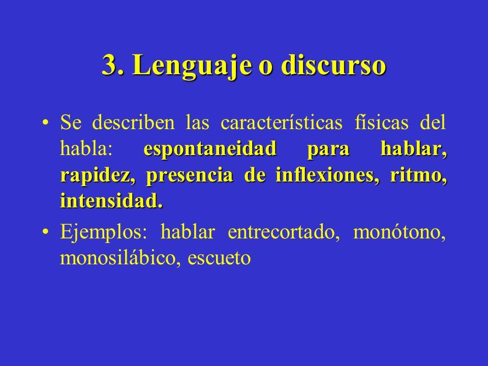 3. Lenguaje o discurso