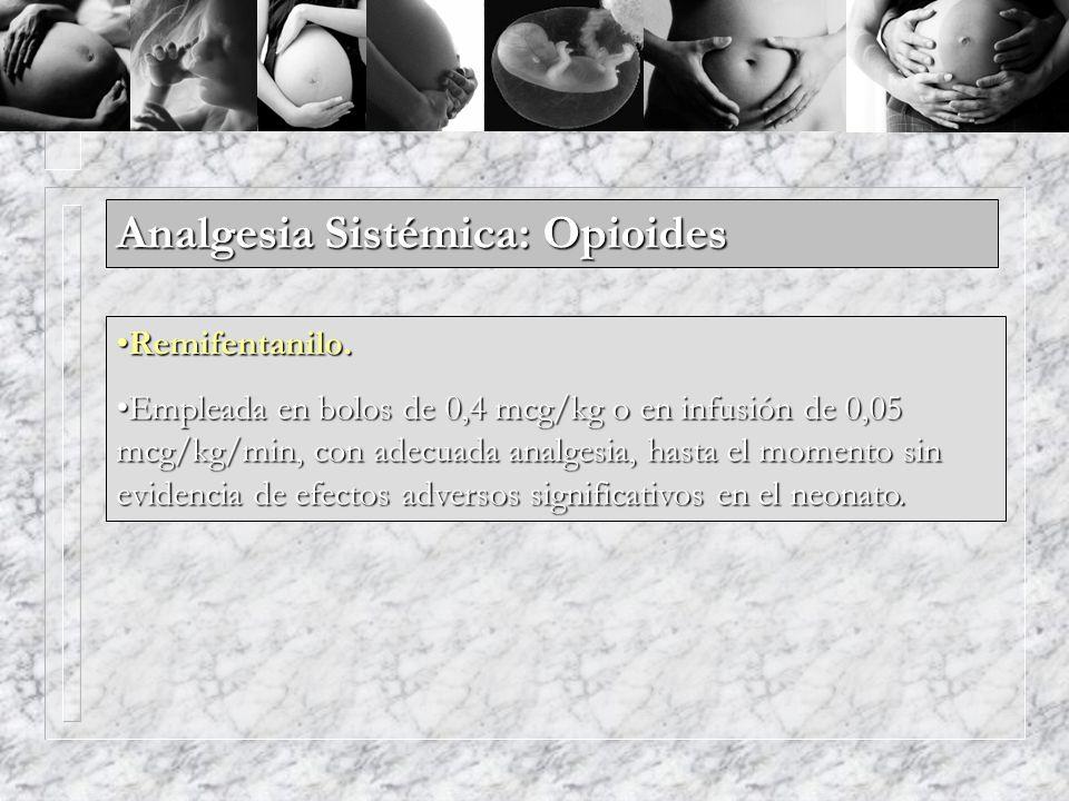 Analgesia Sistémica: Opioides