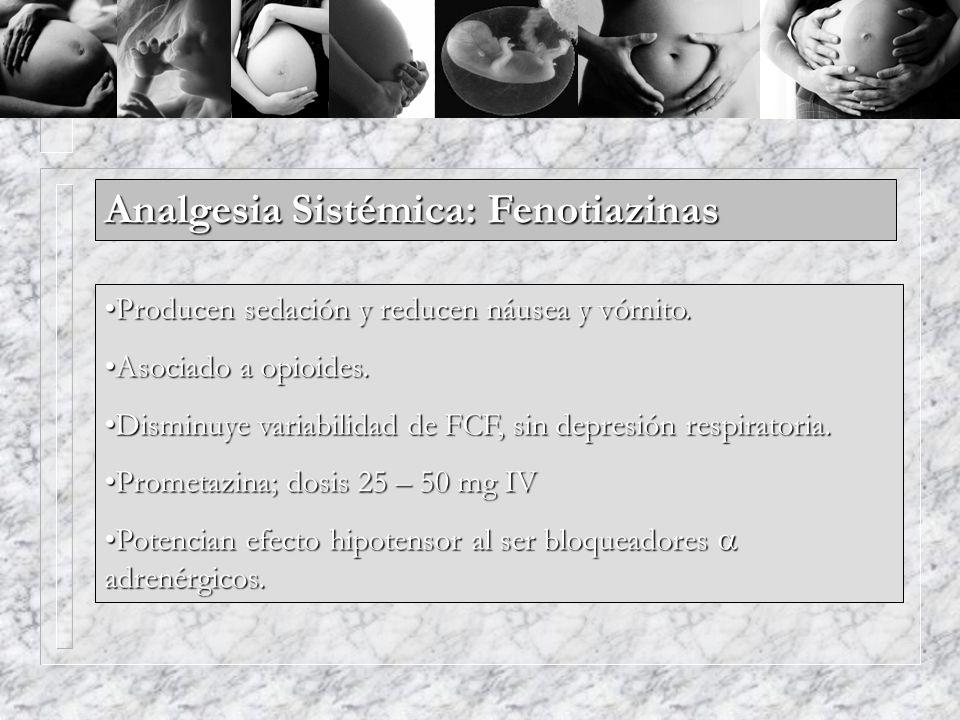 Analgesia Sistémica: Fenotiazinas