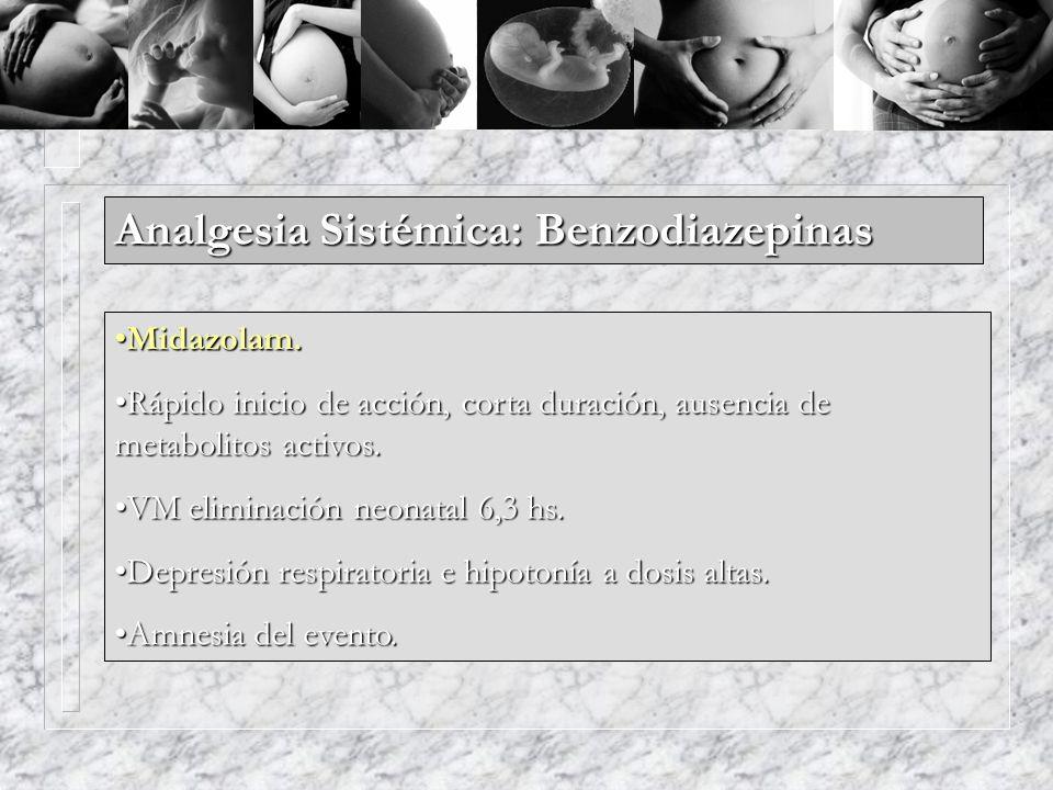Analgesia Sistémica: Benzodiazepinas