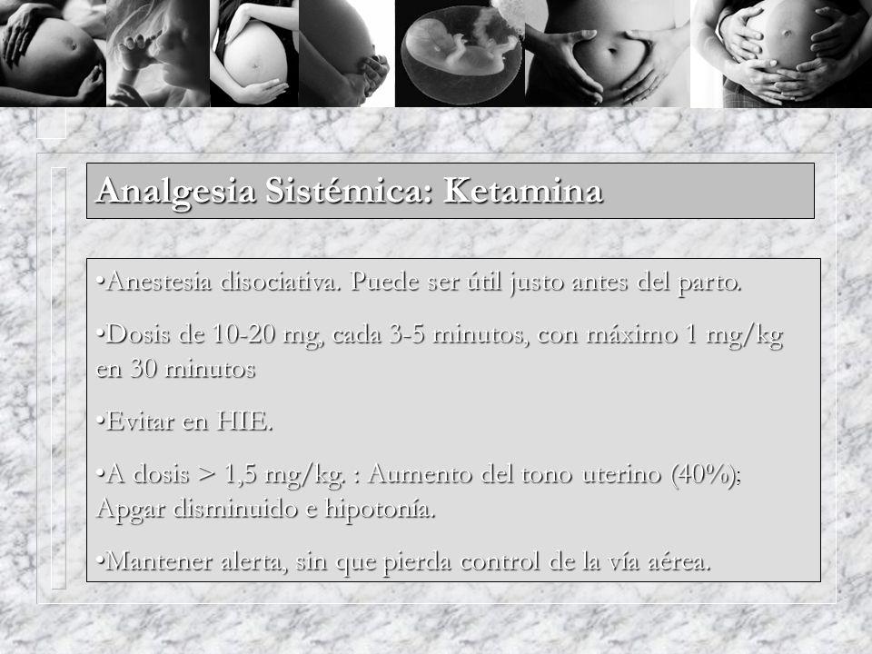 Analgesia Sistémica: Ketamina