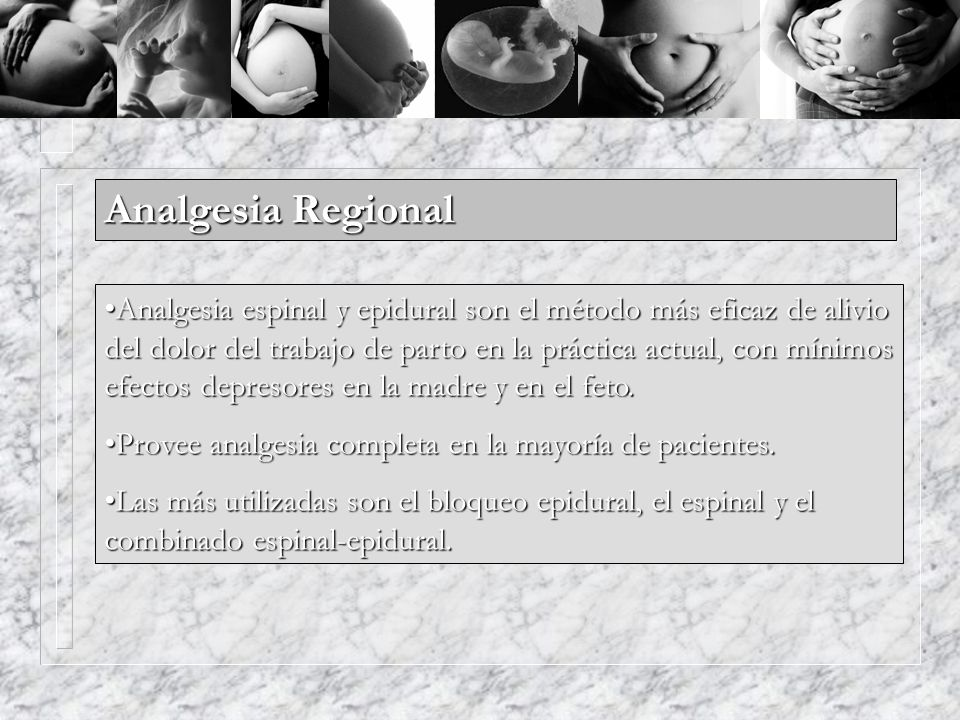 Analgesia Regional